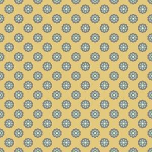 Pattern Blue Rosettes on Mocca by Effie Zafiropoulou