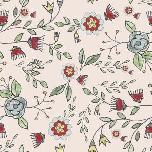 Pattern Colourful Branches by Effie Zafiropoulou