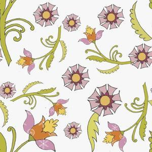 Pattern Lilac Flowers by Effie Zafiropoulou