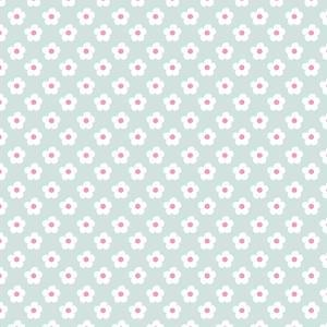 Pattern Snow Daisies by Effie Zafiropoulou