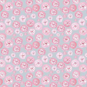 Pink Japanese Flowers on Grey by Effie Zafiropoulou