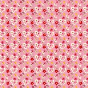 Red and Pink on Fucshia Background by Effie Zafiropoulou