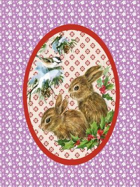 Vintage Christmas Bunnies by Effie Zafiropoulou