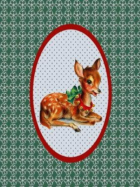 Vintage Christmas Deer by Effie Zafiropoulou