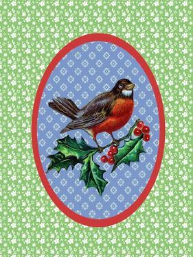 Vintage Christmas Robin by Effie Zafiropoulou
