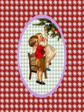 Vintage Xmas Children and Tree by Effie Zafiropoulou