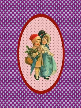 Vintage Xmas Children Couple by Effie Zafiropoulou