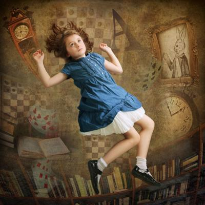 Alice falling down the Rabbit Hole by egal