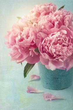 Peony Flowers in a Vase by egal