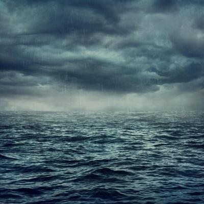 Rain over the Stormy Sea