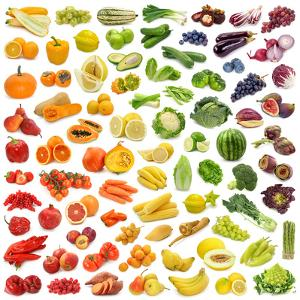 Rainbow Collection of Fruits and Vegetables by egal