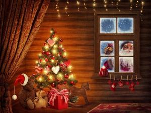 Room With Christmas Tree by egal