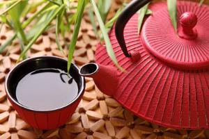 Traditional Japanese Teapot and Cups by egal
