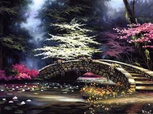 Dogwood and Waterlilies by Egidio Antonaccio