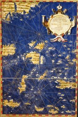 """Map of the Philippines, from the """"Sala Delle Carte Geografiche"""" circa 1570 by Egnazio Danti"""