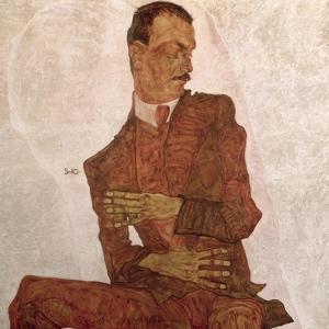 Arthur Roessler, 1910 by Egon Schiele