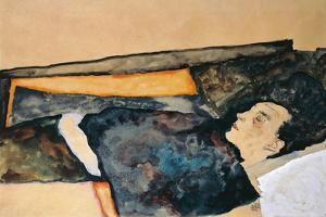 Artist's Mother Sleeping by Egon Schiele