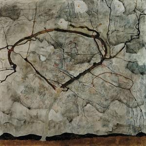 Autumn Tree in Turbulent Air, 1912 by Egon Schiele