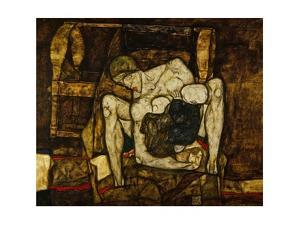 Blinde Mutter Blind mother. Oil on canvas (1914) 99 x 120 cm L 247 . by Egon Schiele