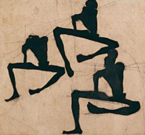 Composition with Three Male Nudes by Egon Schiele