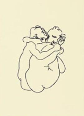 Couple d'Amants by Egon Schiele