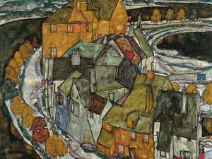 Crescent of Houses II (Island Tow), 1915 by Egon Schiele