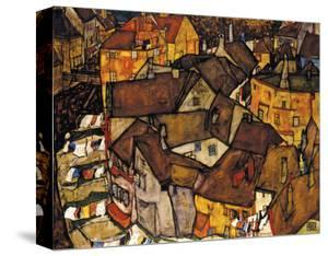 Crescent of Houses (The Small City V), 1915 by Egon Schiele