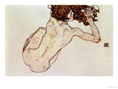 Crouching Nude, Back View, 1917