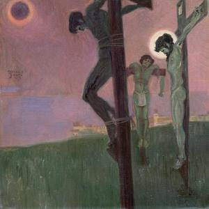 Crucifixion with Darkened Sun by Egon Schiele