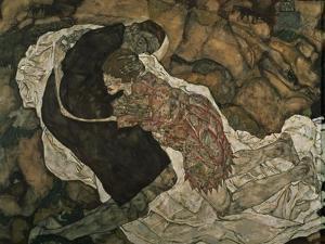 Death and the Maiden (Mann Und Madchen), 1915 by Egon Schiele