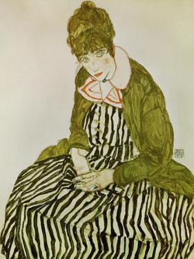 Edith Schiele, the Artist's Wife, Seated, 1915 by Egon Schiele
