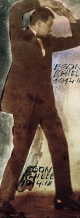 Egon Schiele with Raised Arms, 1914 by Egon Schiele