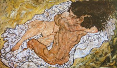 Embrace, 1917 by Egon Schiele