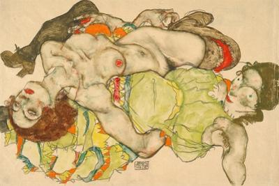 Female Lovers, 1915 by Egon Schiele