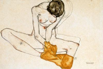 Female Nude, 1901-1918 by Egon Schiele