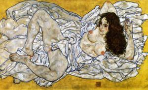 Femme Allongee, c.1917 by Egon Schiele