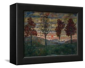 Four Trees, 1917 by Egon Schiele