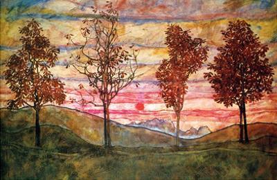 Four Trees by Egon Schiele
