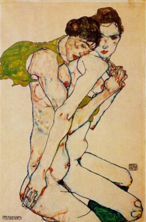 Freundschaft, 1912 by Egon Schiele