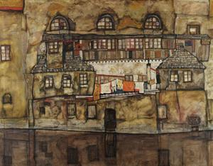 House Wall on the River, 1915 by Egon Schiele