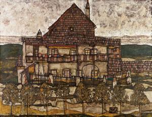 House with Shingle Roof (Old House II), 1915 by Egon Schiele