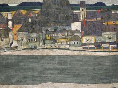 Houses on the River (The Old Tow), 1914 by Egon Schiele