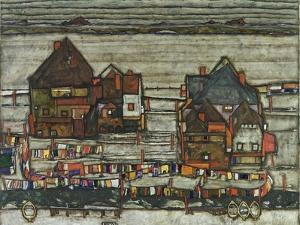 Houses with Washing Lines, 1914 by Egon Schiele