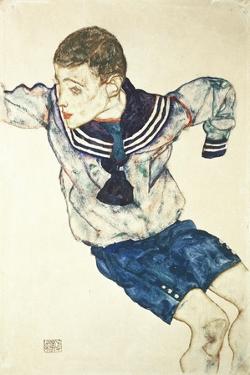 Knabe in Matrosenanzug, 1914 by Egon Schiele