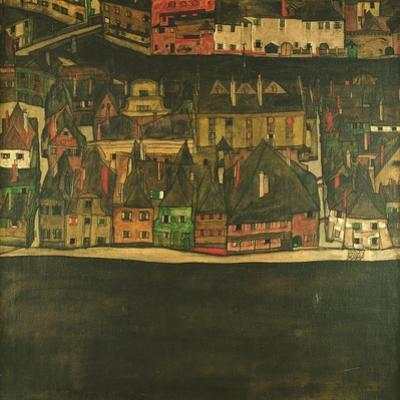Krumau on the Molde, the Small City by Egon Schiele