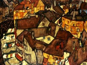 Krumau Town Cresent, 1915 by Egon Schiele