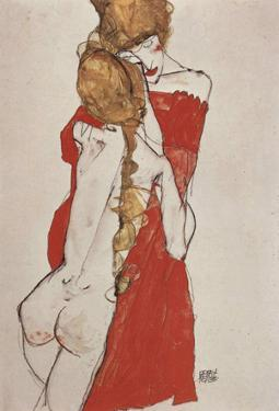 Egon Schiele (Mother and daughter) Art Poster Print