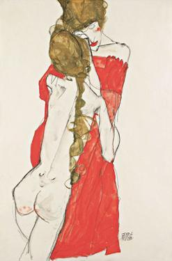 Mother and Daughter by Egon Schiele