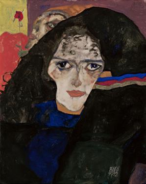 Mourning Woman by Egon Schiele