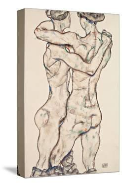 Naked Girls Embracing by Egon Schiele